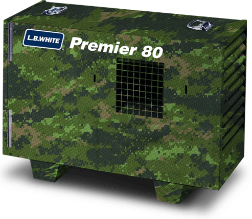 L.B. White Premier 80 Heater Camo Green