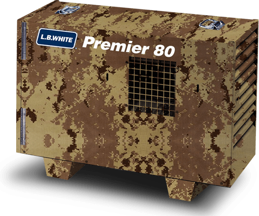 L.B. White Premier 80 Heater Camo Tan